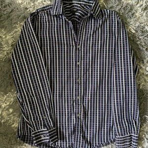 Mens DKNY button down casual shirt large